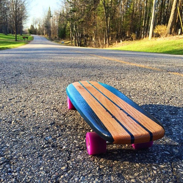 Morning commute.  #handmade #skateboards #OakCruiser #MadeInAmerica #nashville