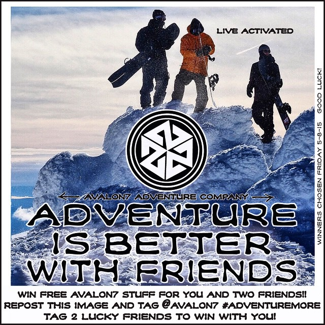 Win stuff Wednesday!  Win free AVALON7 stuff for you and your friends by reposting this shot and tagging it @avalon7 #adventuremore. Stoke out two friends who will also receive a free Tshield or hat from us by tagging them in the post. Adventure is...