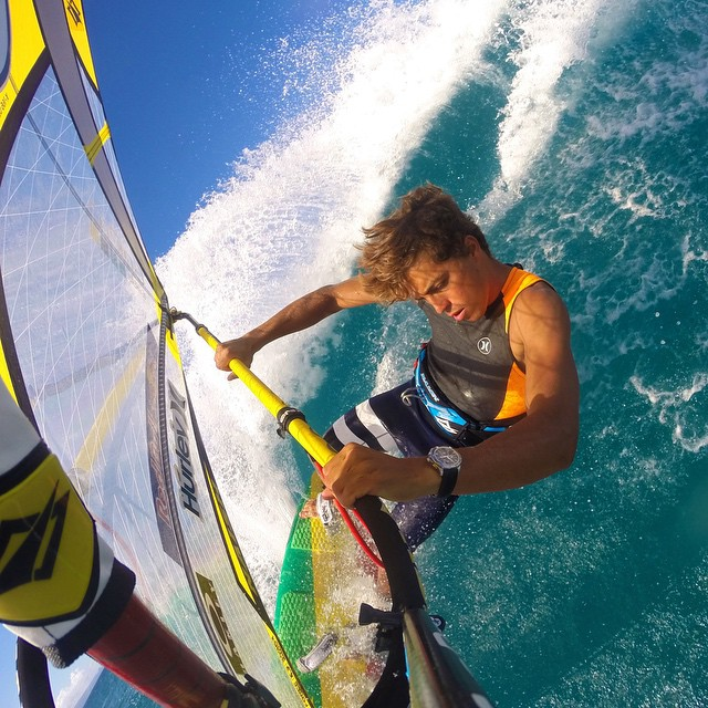 "@Kai_Lenny takeover. ""My name is @Kai_Lenny and I am so stoked to be doing a GoPro Instagram take over today! You are going to see all that I do in one day here at my home waters of Maui. This me Windsurfing a few hours ago, absolutely one of my..."