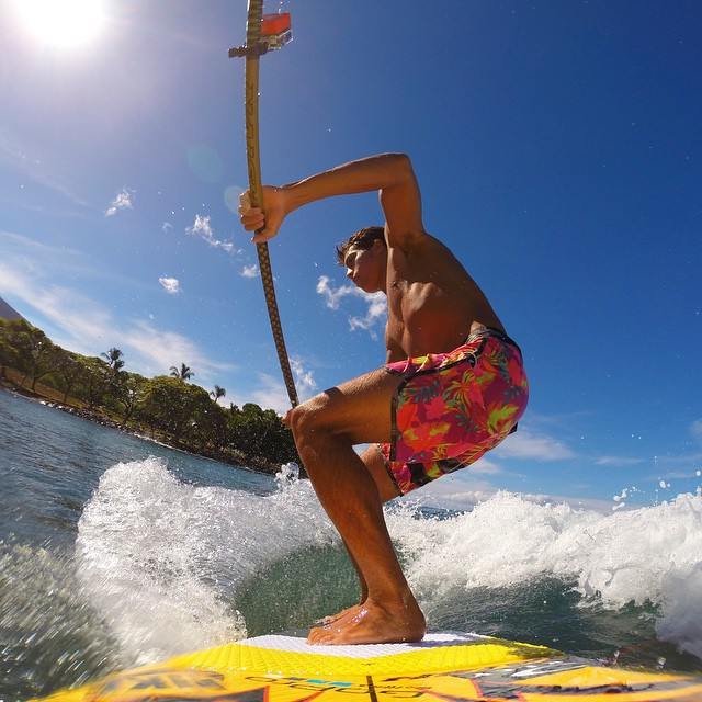 "@Kai_Lenny takeover. ""The beauty of Stand Up Surfing is that it makes the tiniest waves super fun and high performance. Sometimes I go looking for the smallest wave possible to train for up coming World Tour events. In this situation I saw a fun wave..."