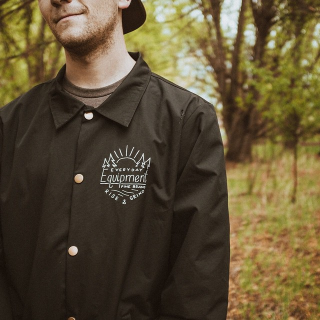 Rise and grind, rain or shine! We just dropped new windbreakers on our web shop. Wind and water resistant, equipped with reflective labels and hand drawn graphics in front and back =