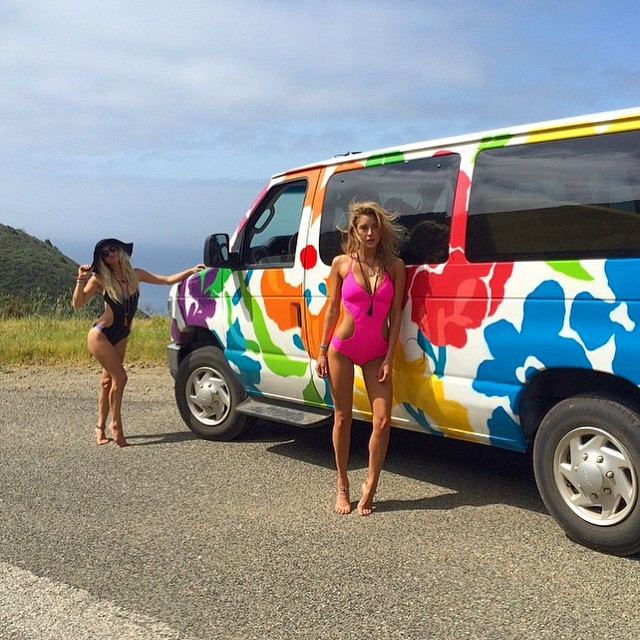 Odina #one #pieces might find their way back online! Shop.odinasurf.com/c/one-pieces @savannaheleven and @reneeraye_ #KillingIt !! @escapecampervans #providing the #aloha #camper for an #amazing #roadtripping #vehicle! @blueplaneteyewear with the #epic...