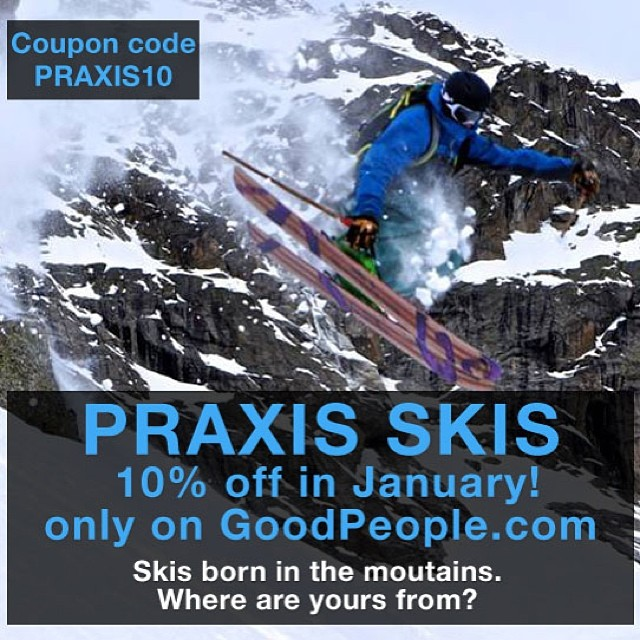 There is pow to be had out there! And we'll help you slay some with 10% off @praxisskis in the month of January #skiing #schralp #gnar