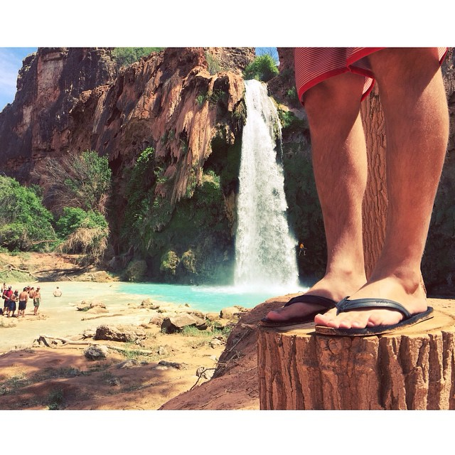 Our Innertubed sandals made it to Havasupai! ✔️ #Innertubed #indosole #soleswithsoul