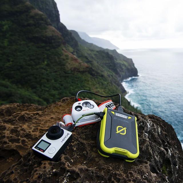 Dual 2.4A USB ports. The Venture 30 on the Napali Coast. #GetOutStayOut  Photo: @travisburkephotography