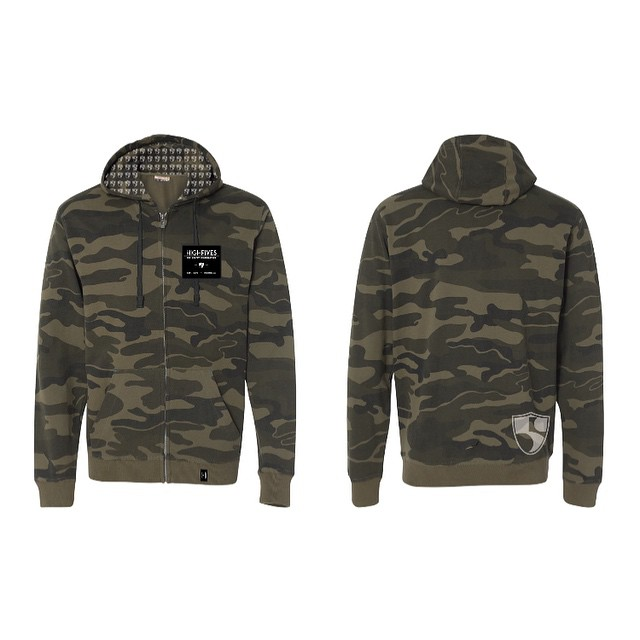 What do you think of our new #camo hoody? #highfivesfoundation #survivaltool @lonemountainprinting