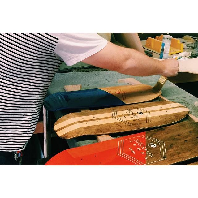 Each board is sealed in poly-urethane. #handmadeskateboard #skate #handmade #Nashville