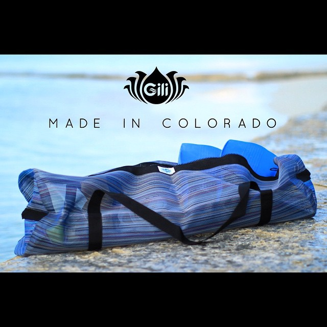 Introducing Gili Bags... made here in Colorado! @giligear is upcycling misprinted vinyl billboards and making duffle bags out of material that would end up in a landfill. They also make these unbelievably tough and colorful mesh bags for all water...