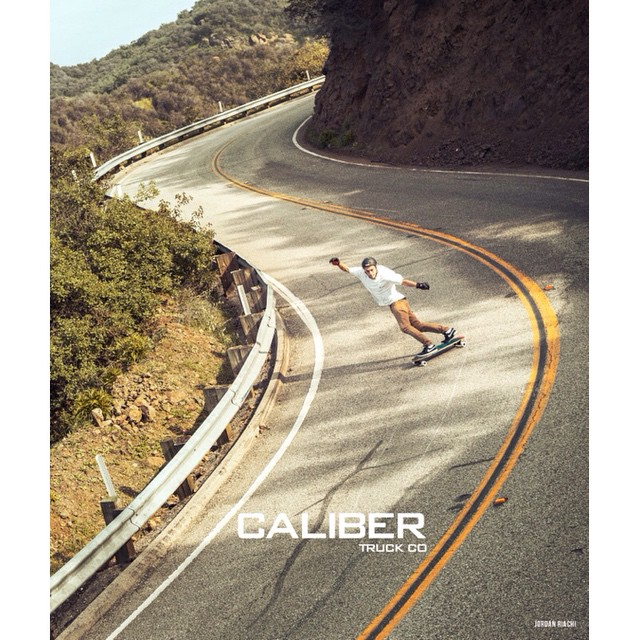 @jordanriachi raging down a SoCal canyon road. Pickup a copy of @concretewavemag to see it in print!