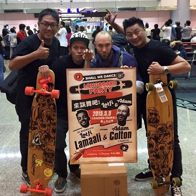 @whoisadamcolton and @lotfiwoodwalker just landed in #Taipei! Follow their journey #LoadedAsianTour2015