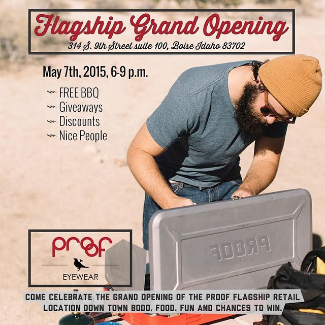 B O I S E - come celebrate the Proof Flagship Store (@proofboise) Grand Opening tonight from 6p-9p downtown!