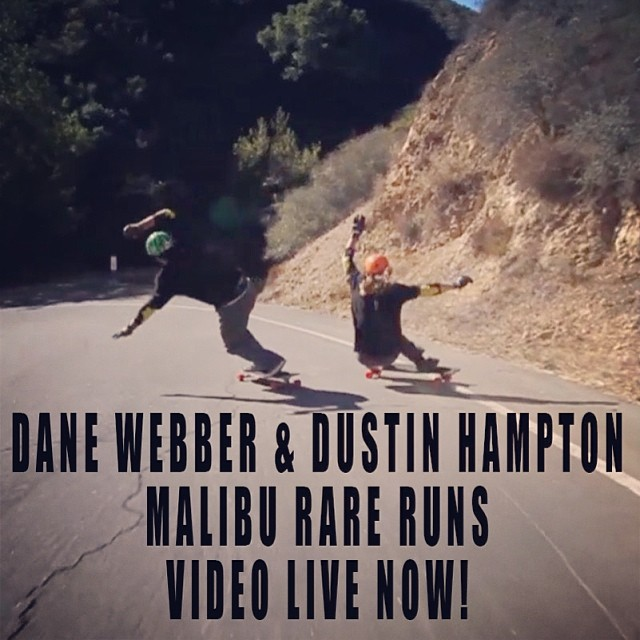 @danewebber and #dustinhampton #malibu #rareruns #video at www.s1helmets.com