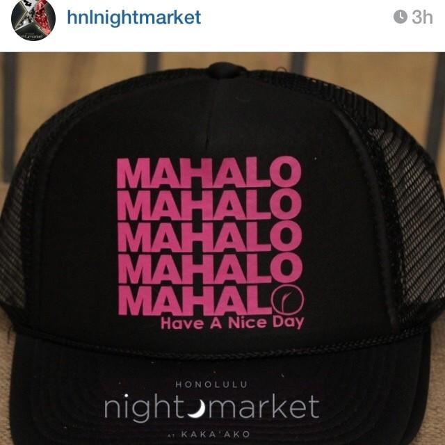 @hnlnightmarket post featuring #Organik #mahalo #trucker hat #hnlnightmarket @ourkakaako