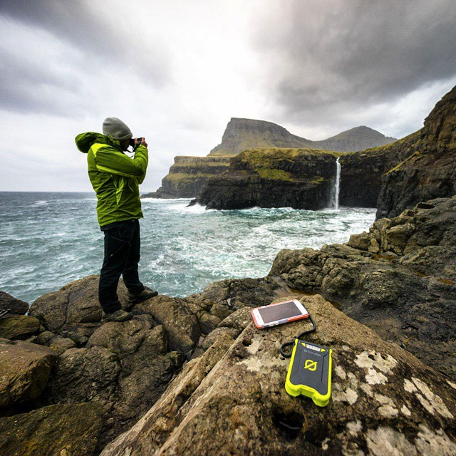 @chrisburkard shooting off grid with the Venture 30 in the Faroe Islands. #GetOutStayOut