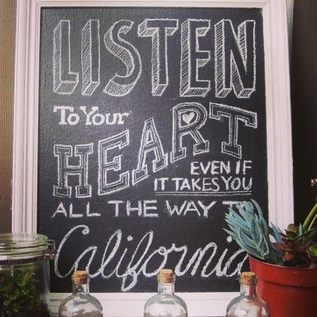 Listen to your heart [especially] if it takes you all the way to #California! #wander #travel #love