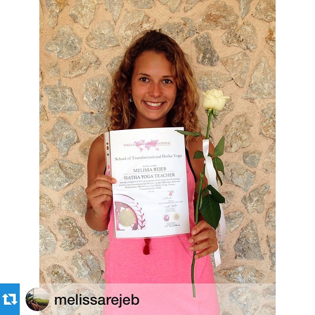 We're so proud of our last intern, Melissa Rejeb, who went on to do her first yoga teacher training this spring in Greece, completing it today! Way to go, Melissa! You are one step closer to your goal of being a surfing yogi who lives on a tropical...