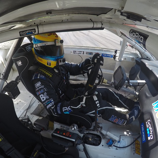 GoPro athlete @tylermcquarrie getting in some practice for this weekends @formulad stop at @roadatlanta. #GoPro #formuladrift #FDATL