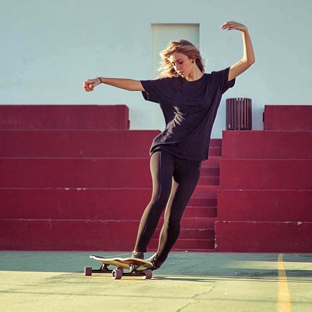 Canary Island rider @jadieemily shot by @girlsinlongboarding. Have a great weekend family!  #longboardgirlscrew #womensupportingwomen #girlswhoshred #skatelikeagirl #jadeemilysperry