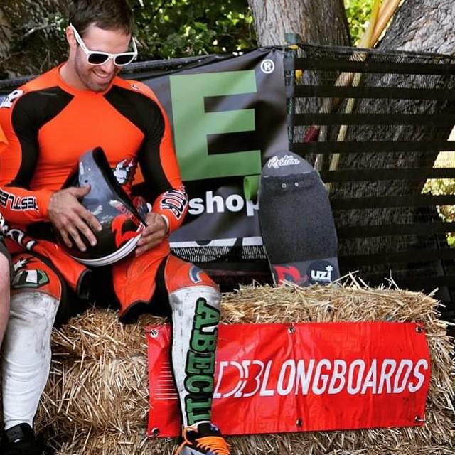 Race season is on! Here's @niko_dh from the #mfos2014 . Niko's always a contender and he's back this year #speed #predatorhelmets #downhill #skate #skatelife #dh6 #originalpredatordesign