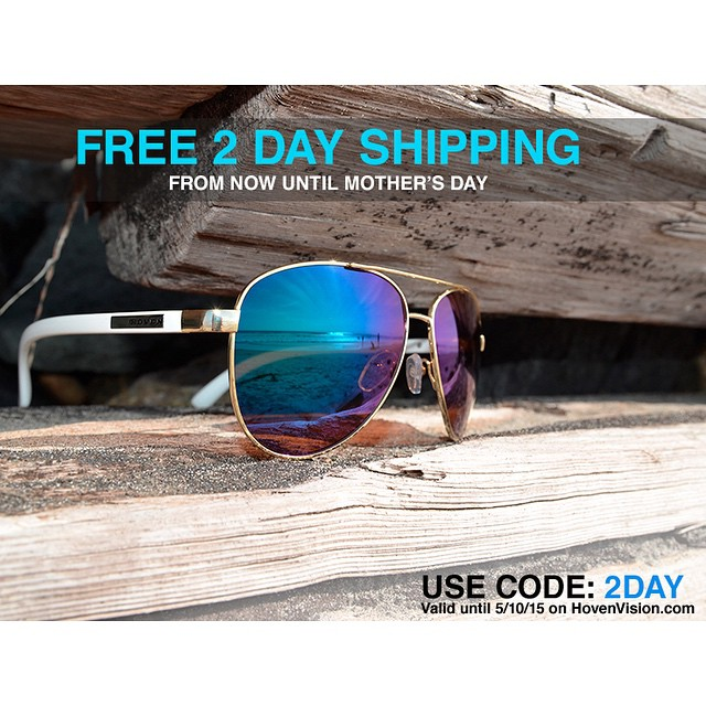 GOOD moms wear sunglasses, GREAT moms rock HOVEN. Treat her for Mother's Day w/ FREE 2Day shipping. #hovenvision #mothersday #lastminute #mom #betterthanflowers