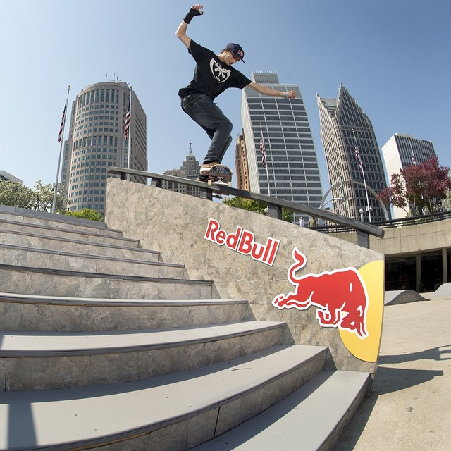 @ryandecenzo killed it all day, landing himself a spot in tomorrow's #HartLines Finals. Follow us on Snapchat (username:redbull) to get the best action from today's qualifiers. @redbullskate