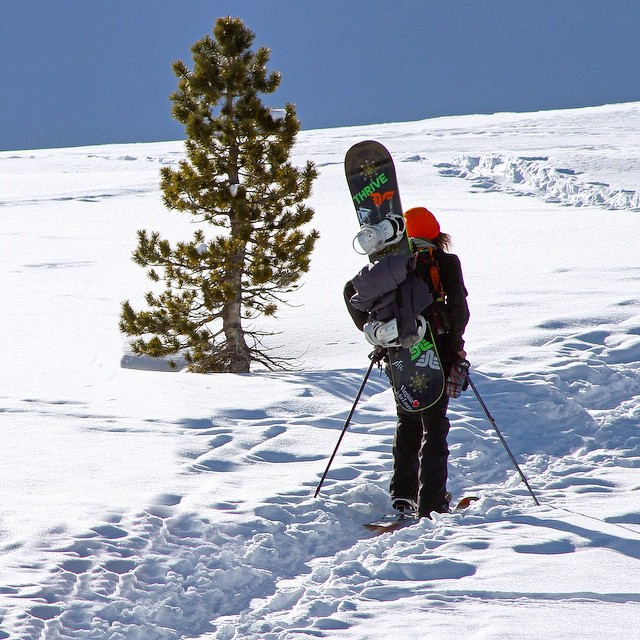 Just keep hiking #cantgetenough @moofosta #tahoebackcountry @shutter_steez @mountainapproach #snowboard