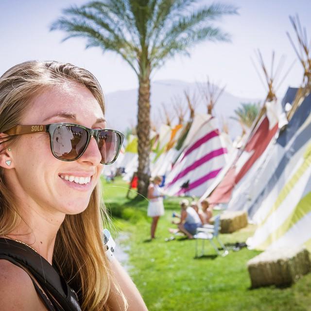 @__jbphotography__ rockin our Burundi frames at #Coachella! #soloeyewear #sentisaturday #bamboo #sunglasses #recycled #repurposed #polarized #lenses #love #california #music #festival #vibes #fun #photography #instadaily #instagood #photooftheday