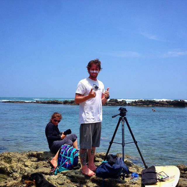 Ocean side shoot for #back2basics @surferguybrent #photovideo #costarica #thriving