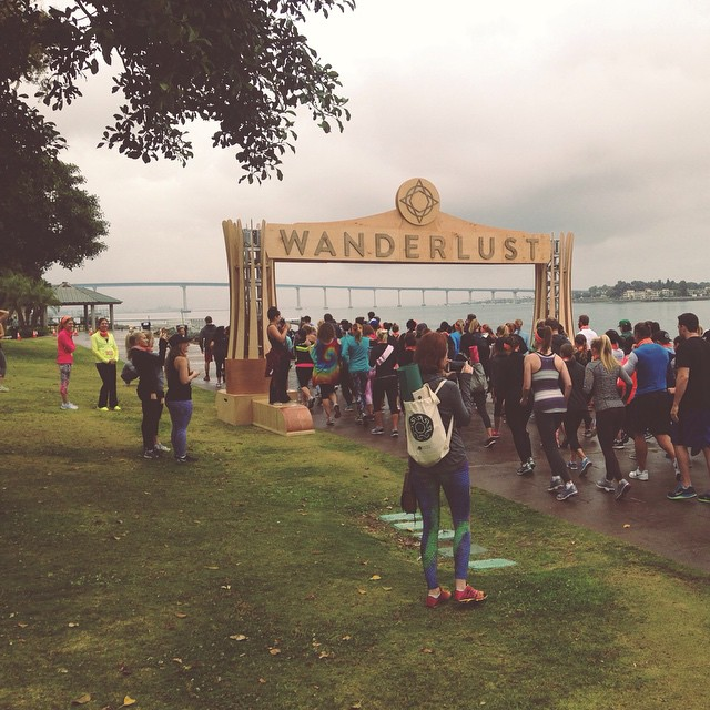 Misty morning at #wanderlust108 in #sandiego. 5k run, group yoga, meditation, and good vibes. We'll be here until 3pm