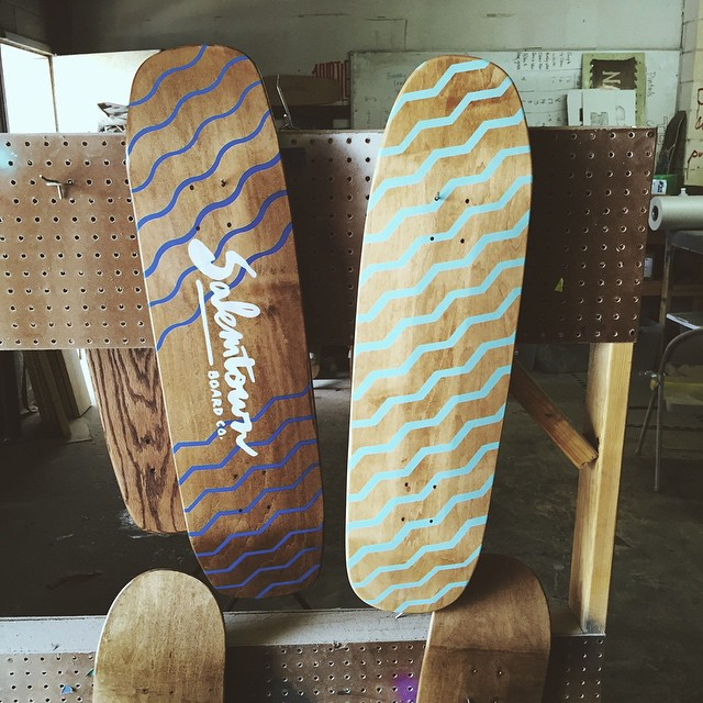 Saturdays in the shop. #handmadeskateboard #Nashville #skate