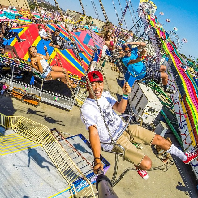 Photo of the Day! A sunny day at the fair. Photo by Jonny Byrne. #GoPro #swings #fair  Share your favorite photos with us by clicking the link in our profile.