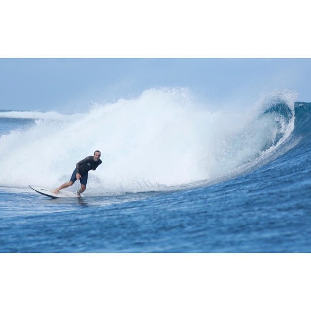 testing a 5'8 shorty in futureflex at cloudbreak #awesome#awesomesurfboards#fiji#cloudbreak#surfing photo by @fijichili
