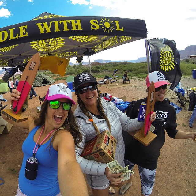 Womens Elite Podium at the Back of Beyond Sup Race. So stoked to share the love with these beautiful women! Thanks Joah and Abby of @paddlemoab for putting on such a fun race! Can't wait for next year!