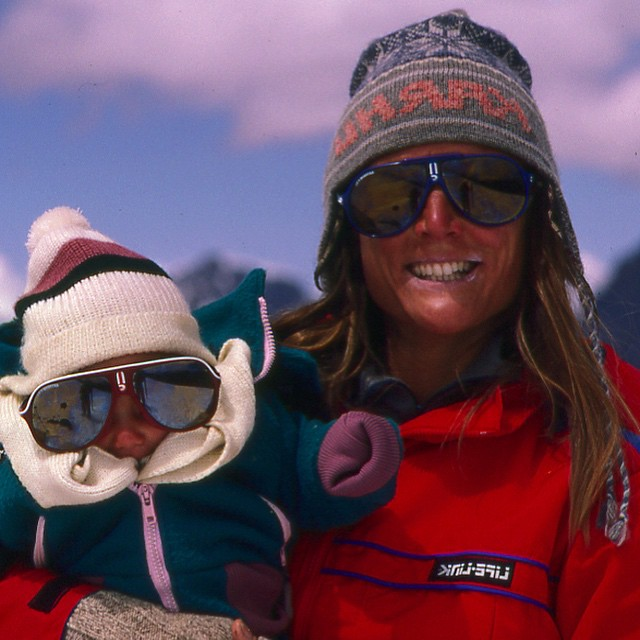 Happy #MothersDay!!! This is my mommy climbing with me up the highest peak in Southern Peru when I was only two months old...she became the first women to summit and ski #Ausangate! Thank you for being just crazy enough to expose me to the...