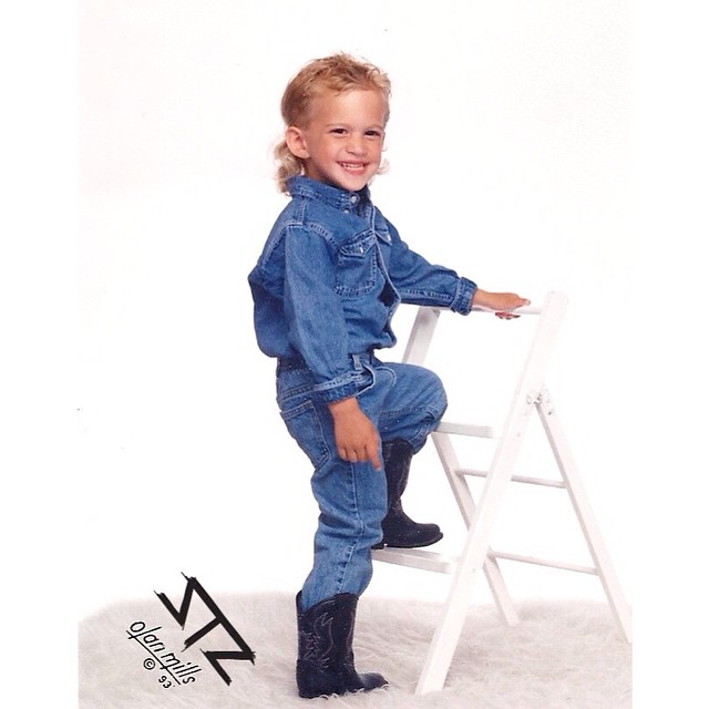 Happy Mother's Day! | Thanks to all the rad moms out there, especially our mom for photos and haircuts like this | #happymothersday #mullet #canadiantuxedo #partyintheback #alldenimeverything #throwback #thankyoumom #stzlife