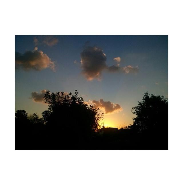 Baja el sol, y estudiar al lado de la ventana no ayuda nada. #ph #postal #atardecer #tramonto #sunset #sunday #cielo #sky #otoño