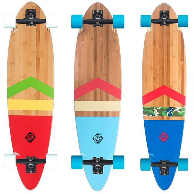Ride the rhythm of the streets with the Anthem Bamboo longboard. Its pintail shape is a tried-and-true classic and features a fiberglass reinforced core providing for a long-lasting snappy ride. An ideal deck for cruising and carving, the Anthem will...