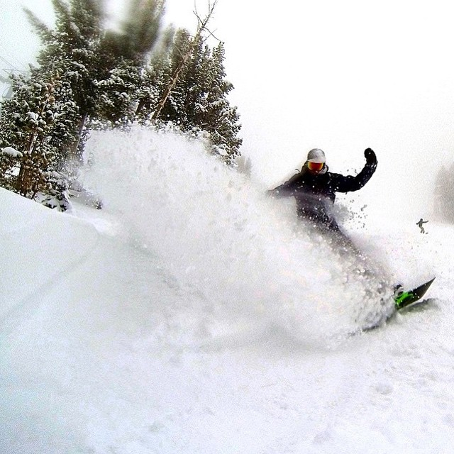 The riders of @mammothmountain are thanking Mother Nature this #mothersday for the late spring pow days they had.