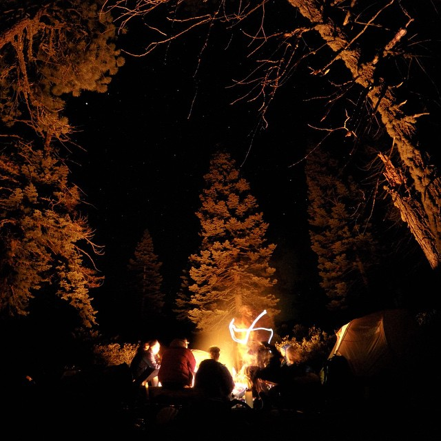 No better way to end Mother's Day then beside a warm fire under the stars in #Yosemite valley. Big thanks to the guys at @forsakeco for letting us take over for the week!!! #adventureworthy