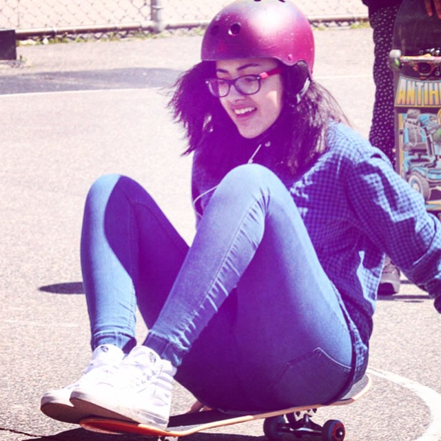 A #stoked smile during #skate mentor! #skateboarding #skatelife #skater #skatergirl #skateboardingisfun