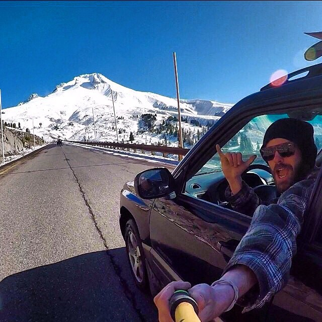 "Look ma! No hands!  Bo Ferro grabs the all natty POV shot using a Panda Camera Wand, on his way up to ""The Hood"" last week... Camera Wand available only at PandaPoles.com/products/camerawand!  Promo code PANDA FANATIC 20% OFF!  Repost from @boferro..."