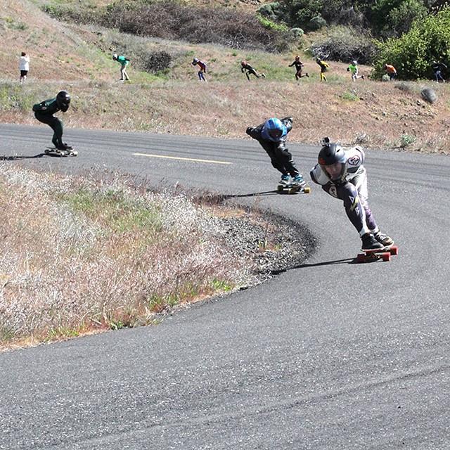 @speedscientist at the Spring Maryhill Freeride (Photo by @gabbatr0n9000 ) #maryhill #freeride #longboard #longboarding #longboarder #dblongboards #goskate #shred #rad #stoked #skateboard #skateeveryday