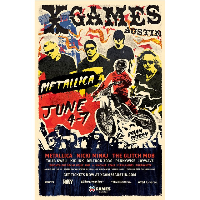 The last time that @metallica performed in Austin was March 20, 2009.  #‎XGames‬ is goin' down June 4-7 at @cota_official!
