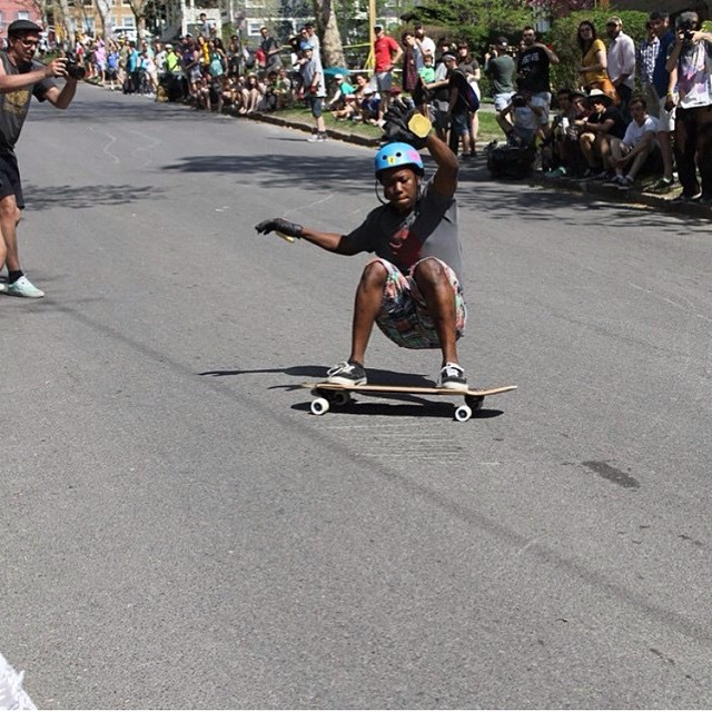 @ed_garn_long going hard at the @cometskateboards #ithacaslidejam this past weekend. looked like a sick event!