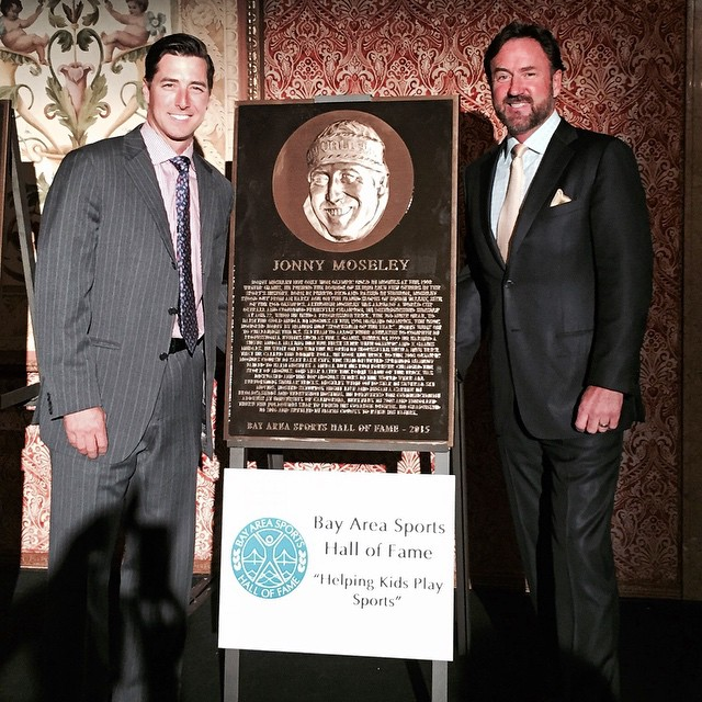 Congratulations to friend, supporter and overall amazing dude @jonnymoseley on being inducted in the Bay Area Sports Hall of Fame