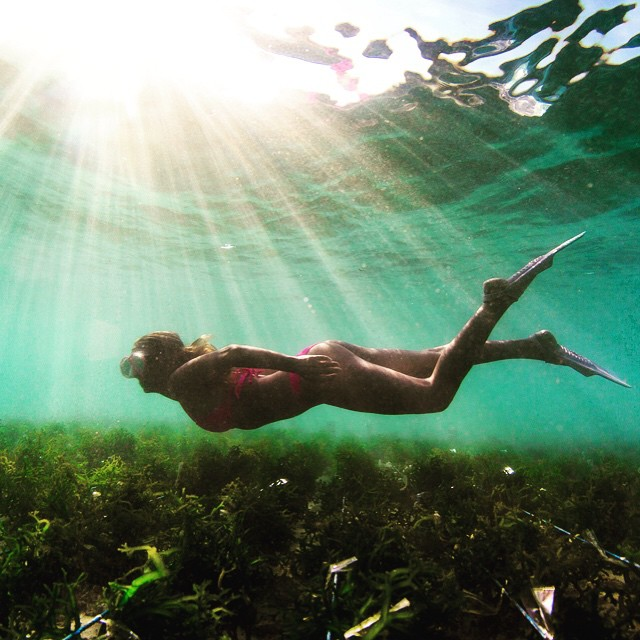 I can't get over the underwater view of this #SeaweedFarm in #NusaLembongan!