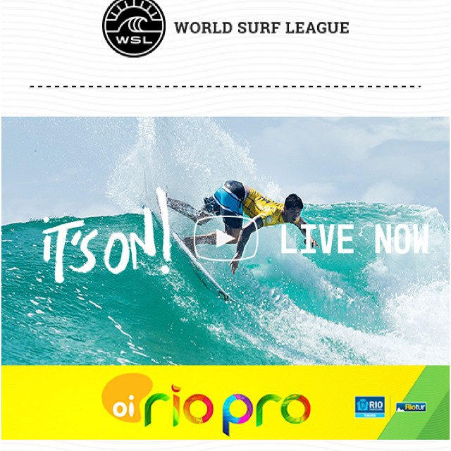 It's on in Rio! Check out the action at worldsurfleague.com ! #wsl #Brazil #brasil #surf #oioi #uluLAGOON #brazilianstorm #surfshop