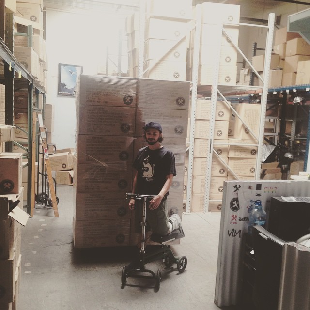 "@esca_gnar is a ruler . Dude has the craziest work ethic known to man. Broken foot and has been packing orders and pallets of S1 Lifer Helmets with his ""knee walker"" for the past month. He gets the pins out this afternoon so let's wish him a fast and..."