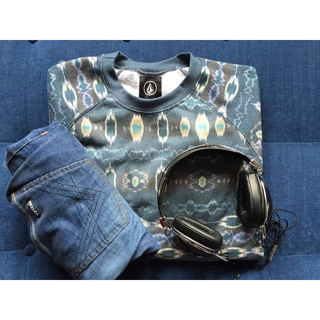 #NewIn Digital Crew Fullprint Fleece + Vorta Fit #VolcomBrandJeans #VBJ #invierto #AW15 #TrueToThis