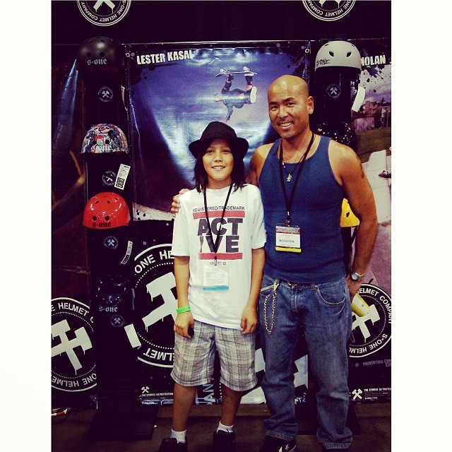 @lesterkasai and @austin_poynter at the #s1helmets back in 2008. #asrtradeshow #throwbackthursday